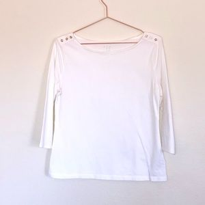 3/4 Sleeve Boatneck Top